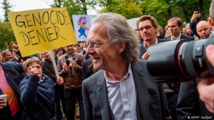 El austríaco Peter Handke, premio Nobel de Literatura de 2019, fue particularmente controvertido.