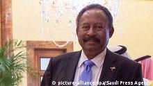 Regierungschef der Übergangsregierung in Sudan Abdullah Hamduk