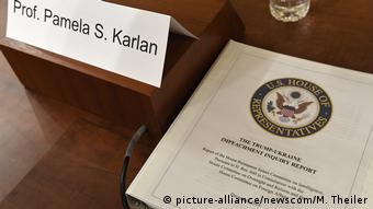 USA Impeachment | Haus-Justizausschuss hält Anhörung mit Rechtsprofessoren ab (picture-alliance/newscom/M. Theiler)