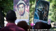 USA Trayvon Martin-Plakat beim Martin Luther Kings Gedenkfeier (Getty Images/AFP/M. Antonov)