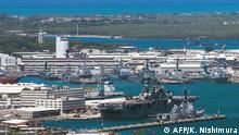 (FILES) This file photo shows a general view of Joint Base Pearl Harbor-Hickam on June 29, 2012 in Pearl Harbor, Hawaii. - December 4, 2019 gunfight at Pearl Harbor shipyard in Hawaii leaves several injured. (Photo by Kent Nishimura / AFP)