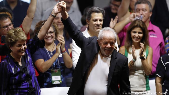 Foto de Dilma Rousseff y Lula da Silva.