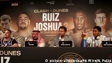Saudi Arabien Riad | Pressekonferenz zu Boxkampf: Andy Ruiz Jr v Anthony Joshua