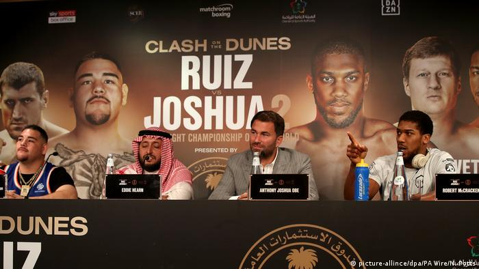 Ruiz Jr v Anthony Joshua - Press Conference - Riyadh -- December 4, 2019. (picture-allince/dpa/PA Wire/N. Potts)