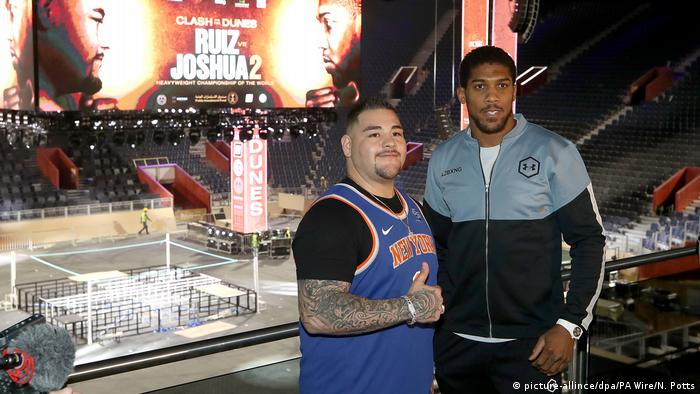Saudi Arabien Riad | Pressekonferenz zu Boxkampf: Andy Ruiz Jr v Anthony Joshua (picture-allince/dpa/PA Wire/N. Potts)