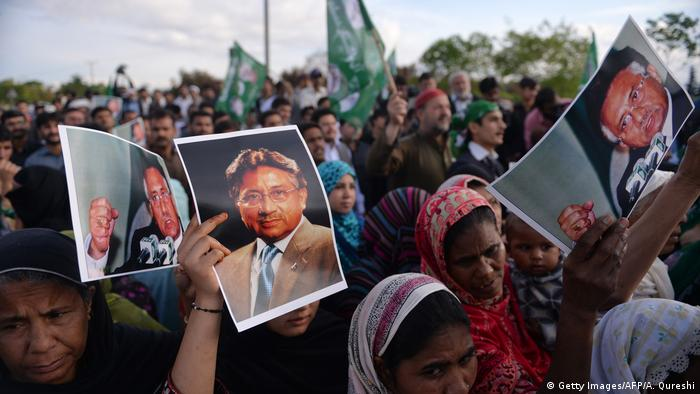 Pakistan l Ehemaliger Präsident Pervez Musharraf - Unterstützer (Getty Images/AFP/A. Qureshi)