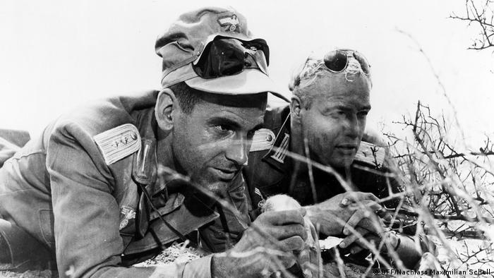 Maximilian Schell and Marlon Brando in The Young Lions (DFF/Nachlass Maximilian Schell)