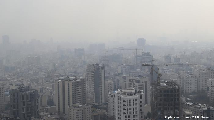 Iran l Luftverschmutzung, Smog in Teheran