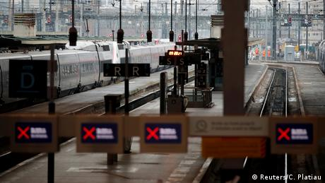 Tracks are seen at the Gare de Lyon railway station in Paris