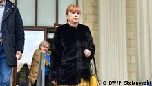 Vilma Ruskoska, mazedonische Staatsanwältin vertritt die Anklage vor Gericht im Prozess Reket