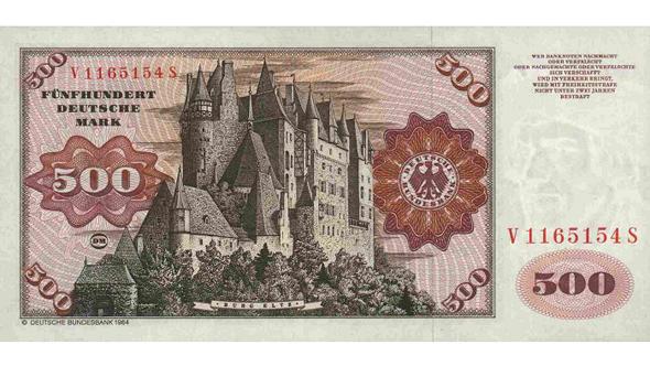 500 DM Schein Flash-Galerie