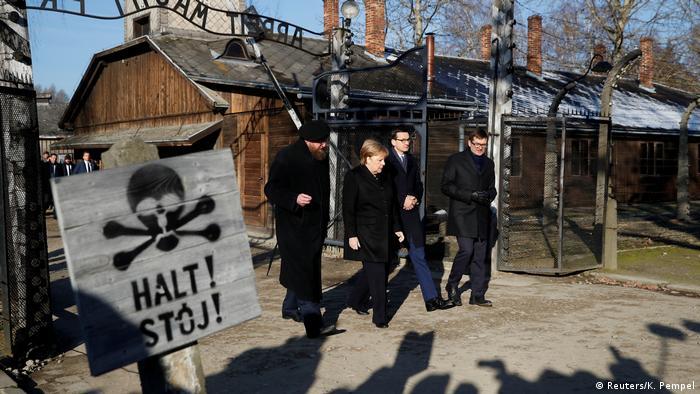 Bundeskanzlerin Merkel besucht KZ Auschwitz