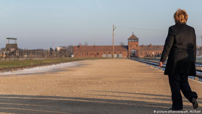 Merkel visits the former Nazi German extermination camp Auschwitz-Birkenau