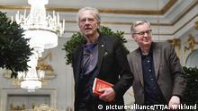Peter Handkes Auftritt bei der Pressekonferenzen der Schwedischen Akademie