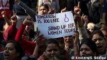 Indien Protest gegen der Vergewaltigung einer Studentin in New Delhi