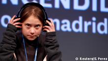 Climate change activist Greta Thunberg attends a news conference, before a climate change protest march, as COP25 climate summit is held in Madrid, Spain, December 6, 2019. REUTERS/Sergio Perez