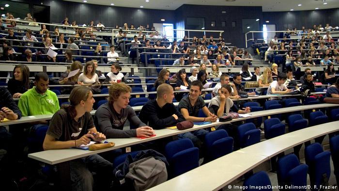 Frankreich Vorlesungssaal in der Paul Verlaine Universität in Metz