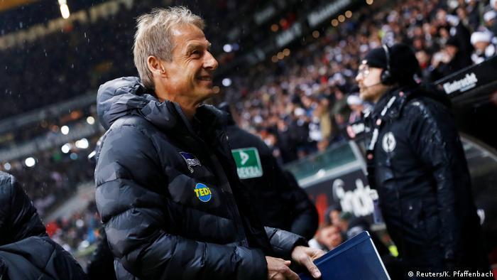 Fußball Bundesliga 14. Spieltag | Eintracht Frankfurt vs. Hertha BSC | Jürgen Klinsmann
