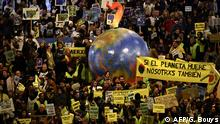 Spanien Klimastreik COP25 in Madrid