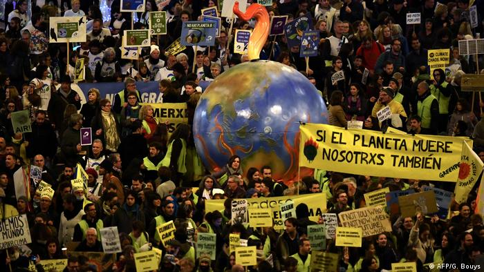 Climate strikers in Madrid, 2019