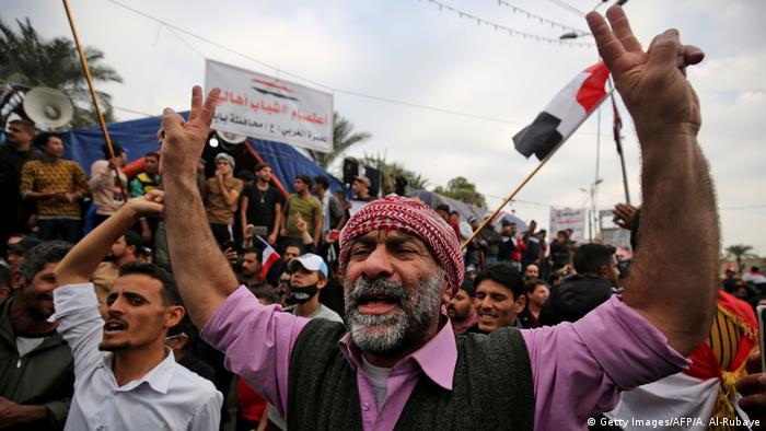 Proteste im Irak (Getty Images/AFP/A. Al-Rubaye)
