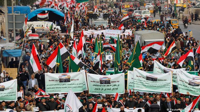 مظاهرات ضد الحكومة في العاصمة العراقية بغداد يوم الجمعة 06.12.2019