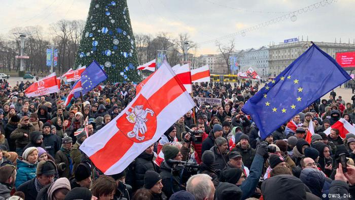 Протест в Минске против углубления интеграции с Россией