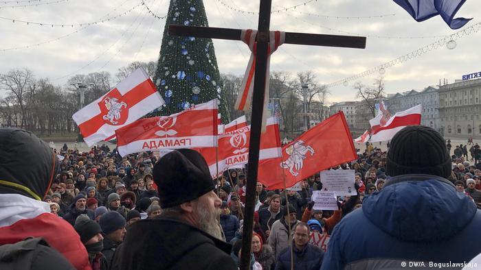 Протесты в Минске против угулубления интеграции с Россией