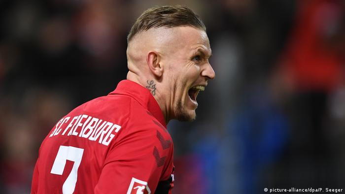 1. Bundesliga | SC Freiburg vs VfL Wolfsburg | Torjubel (1:0) (picture-alliance/dpa/P. Seeger)