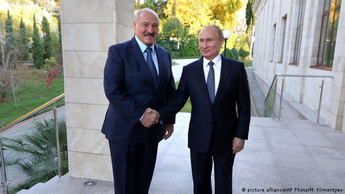 Russland Präsident Wladimir Putin trifft weißrussischer Präsident Alexander Lukaschenko