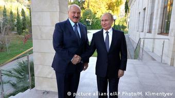 Зустріч Олександра Лукашенка та Володимира Путіна