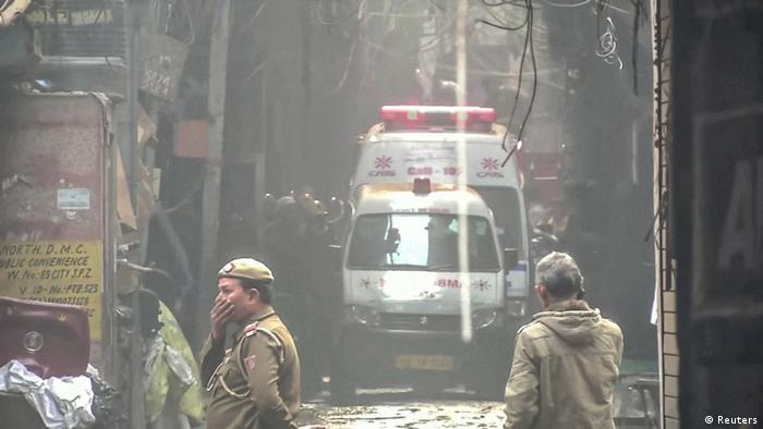Пожежа на фабриці в Нью-Делі