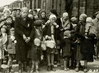عکس بالا زنان و کودکان یهودی از مجارستان را در زمان ورود به آشویتس نشان میدهد. آنان جدا از مردان مورد گزینش قرار میگرفتند. این عکس که در سال ۱۹۴۴ گرفته شده است، در آرشیو