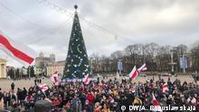 Minsk Russland Kundgebung gegen Integration
