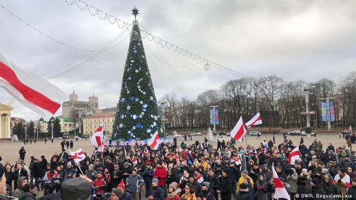 Протест в Минске против интеграции с Россией 8 декабря 2019 года