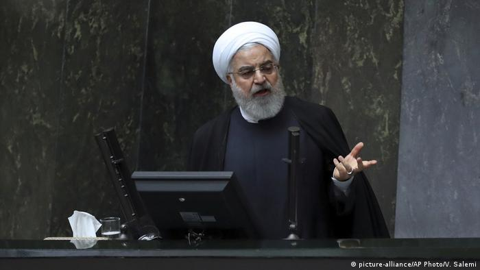 Hassan Rohani gives his budget speech in Tehran