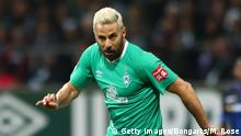 BREMEN, GERMANY - DECEMBER 08: Claudio Pizarro of SV Werder Bremen runs with the ball during the Bundesliga match between SV Werder Bremen and SC Paderborn 07 at Wohninvest Weserstadion on December 08, 2019 in Bremen, Germany. (Photo by Martin Rose/Bongarts/Getty Images)
