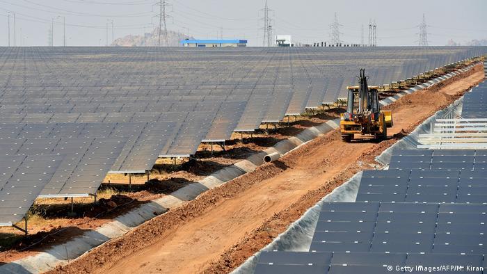 sprawling solar park