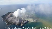 Neuseeland Vulkanausbruch Whakaari, White Island (picture-alliance/AP Photo/New Zealand Herald/G. Novak)