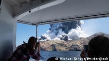 Neuseeland Vulkanausbruch Whakaari, White Island. Quelle: Michael Schade/Twitter@sch