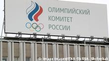MOSCOW, RUSSIA - NOVEMBER 26, 2019: The building of the Russian Olympic Committee. The World Anti-Doping Agency s WADA compliance review committee is proposing a new series of recommendations to ban Russia s participation in sporting events for four years. Alexander Shcherbak/TASS PUBLICATIONxINxGERxAUTxONLY TS0C4C28