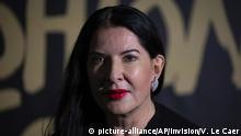 Marina Abramovic poses for photographers upon arrival at the Fashion For Relief charity event in central London, Saturday, Sept. 14, 2019. (Photo by Vianney Le Caer/Invision/AP) |