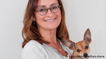 Ханна Ченчак со своей собакой