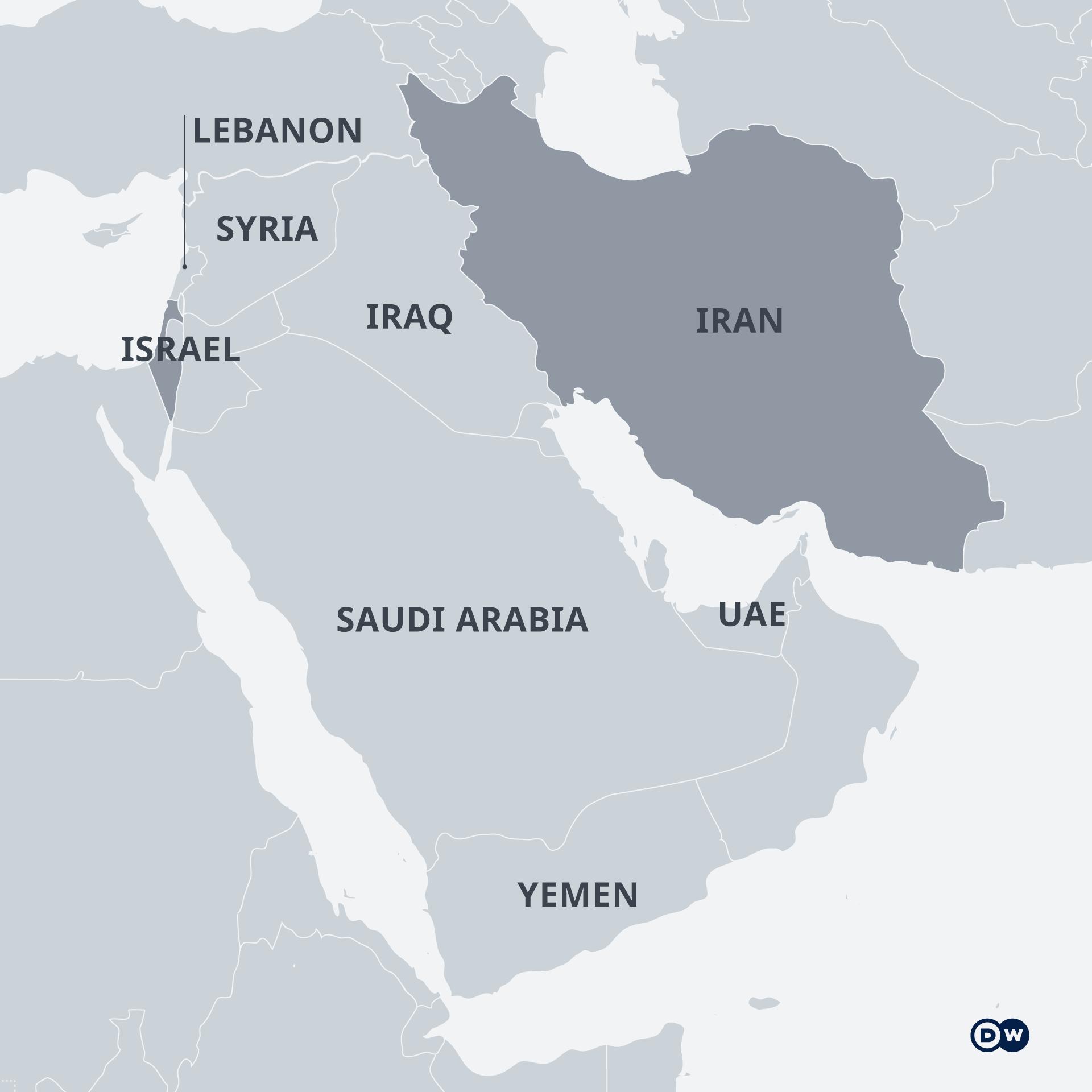 Iran und Israel haben keine gemeinsame Grenze. Die beiden nicht arabischen Länder waren vor der islamischen Revolution im Iran 1979 eng verbündet
