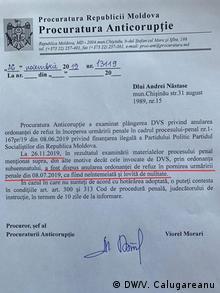 Redeschiderea, de către Procuratura Anticorupție, a dosarului vizând finanțarea ilegală a PSRM. (DW/V. Calugareanu)