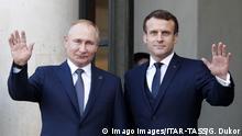 Frankreich Normany Four-Gipfel in Paris | Wladimir Putin und Emmanuel Macron