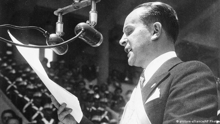Guatemala Präsident Jacobo Arbenz Guzman (1951) (picture-alliance/AP Pho