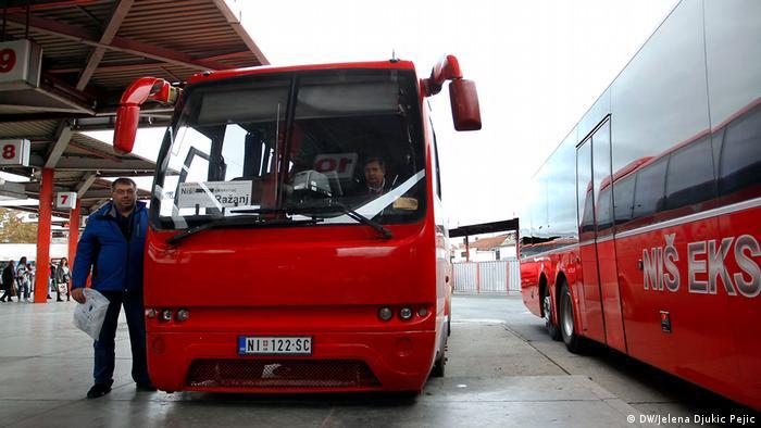 LKW- und Busfahrer in Serbien