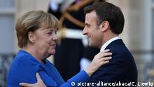Frankreich Format Normandie Gipfel in Paris | Angela Merkel und Emmanuel Macron