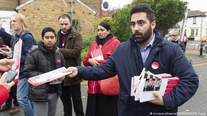 Ali Milani canvasses with supporters in Uxbridge & South Ruislip at the start of his campaign